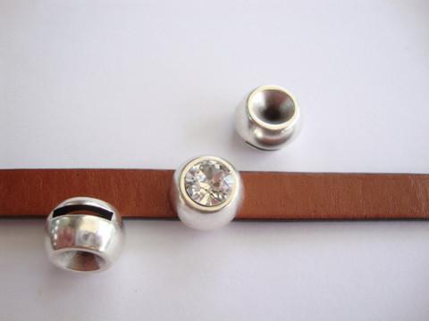 Metallihelmi/hela (slider) 14 mm / sopii 8 mm rivolille (SS39) 10 mm nahkanauhalle