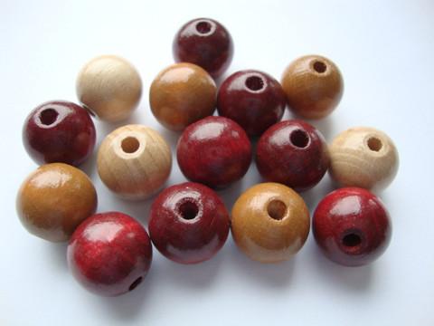 Rayher Puuhelmimix (puuhelmisekoitus) ruskea/luonnonsävyt 12 mm (32  kpl/pss)