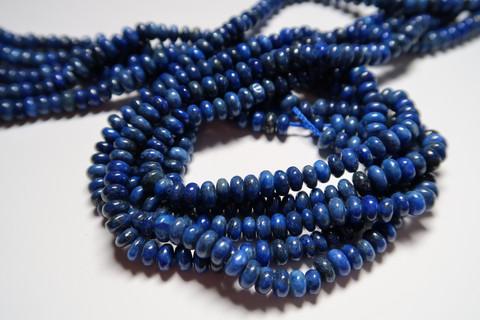 Lapis Lazuli sininen rondelli 2,5 x 5 mm (20 kpl/pss)