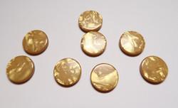 Polariskapussi hohtava Curry keltainen 12 mm