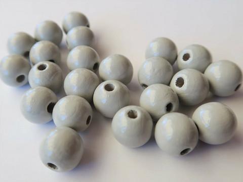 Rayher Puuhelmi harmaa 6 mm (115 kpl/pss)