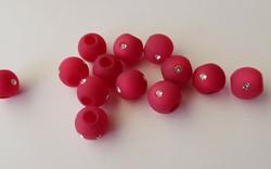 Polarishelmi Swarovskin strasseilla vadelmanpunainen matta 10 mm (2 kpl/pss)