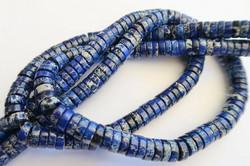 Kivihelmi Jaspis tumma sininen rondelli 3 x 8 mm (30 kpl/pss)