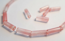 Kivihelmi vaaleanpunainen putki 13 x 4 mm (4 kpl/pss)