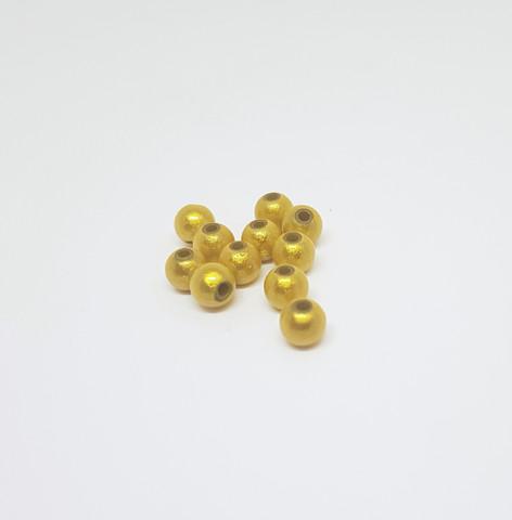 Akryylihelmi heijastava pyöreä 6mm keltainen 50kpl/pss