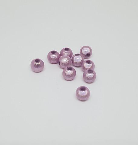 Akryylihelmi heijastava pyöreä 6mm vaaleanpunainen 50kpl/pss
