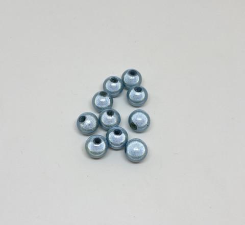 Akryylihelmi heijastava pyöreä 8mm vaalea sininen 35kpl/pss