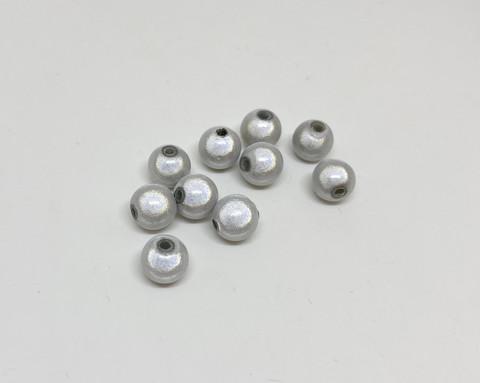 Akryylihelmi heijastava pyöreä 8mm valkoinen 35kpl/pss