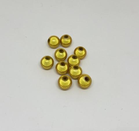Akryylihelmi heijastava pyöreä 8mm keltainen 35kpl/pss