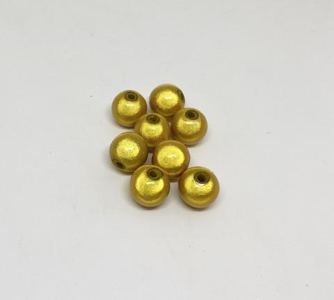Akryylihelmi heijastava pyöreä 10mm keltainen 30kpl/pss