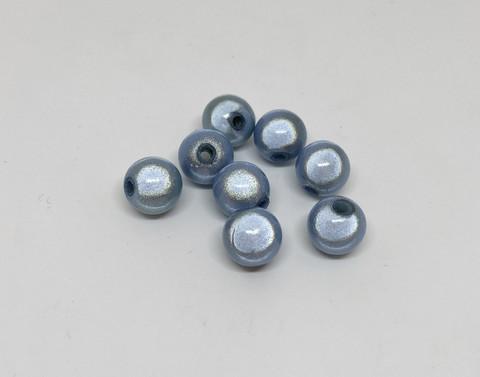 Akryylihelmi heijastava pyöreä 10mm vaalea sininen 30kpl/pss