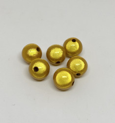 Akryylihelmi heijastava pyöreä 12mm keltainen 20kpl/pss