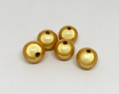 Akryylihelmi heijastava pyöreä 14mm keltainen 10kpl/pss