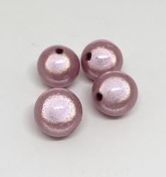 Akryylihelmi heijastava pyöreä 16mm vaaleanpunainen 8kpl/pss