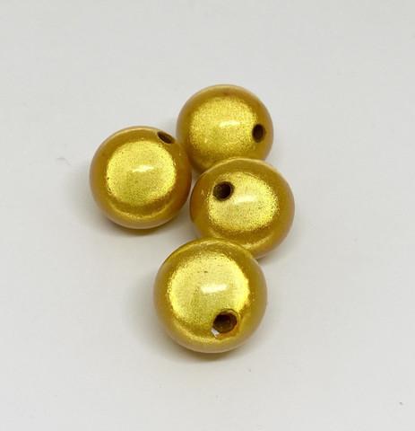 Akryylihelmi heijastava pyöreä 16mm keltainen 8kpl/pss