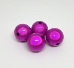 Akryylihelmi heijastava pyöreä 16mm fuksia 8kpl/pss