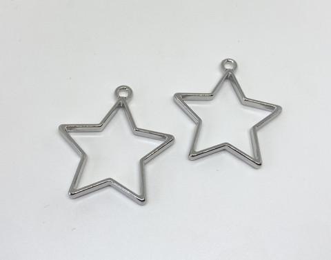 Riipus / kuvakehys tähti hopea 36x33mm