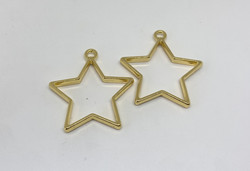 Riipus / kuvakehys tähti kulta 36x33mm