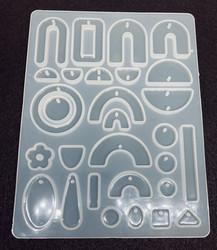 Silikonimuotti koruhartsille ja korubetonille 29 erilaista muotoa