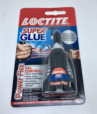 Loctite Super Glue Power Flex värittömäksi kuivuva pikaliima 3g