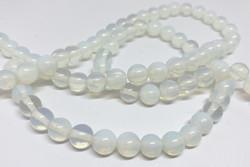 Opaali pyöreä vaalea läpikuultava 8 mm (20 kpl/pss)