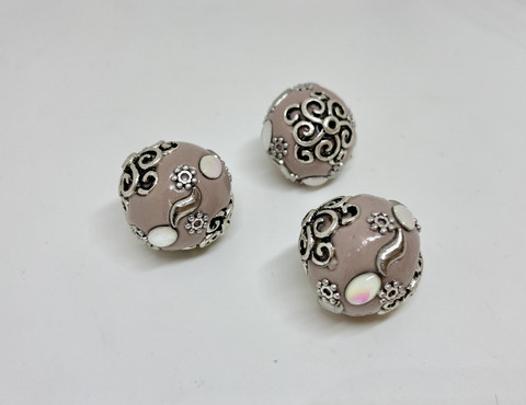Kashmirihelmi nude-hopea 20mm