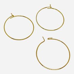 Korvakorurengas ruostumaton teräs kulta 25 mm (4 kpl/pss)
