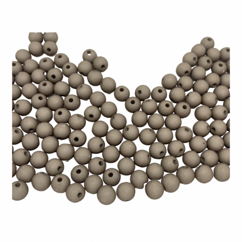 Akryylihelmi pyöreä 8 mm ruskeanharmaa matta 30kpl/pss