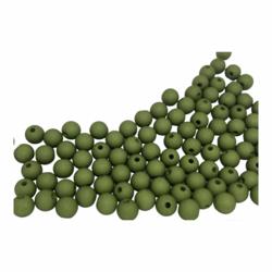Akryylihelmi pyöreä 8 mm oliivinvihreä matta 30kpl/pss