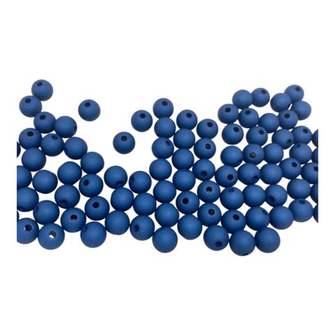 Akryylihelmi pyöreä 8 mm petroolinsininen matta 30kpl/pss