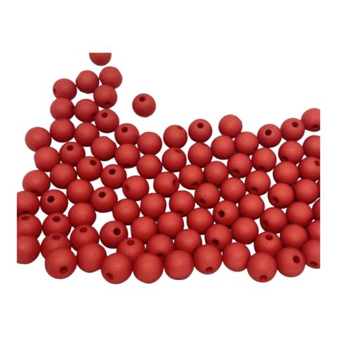 Akryylihelmi pyöreä 8 mm punainen matta 30kpl/pss