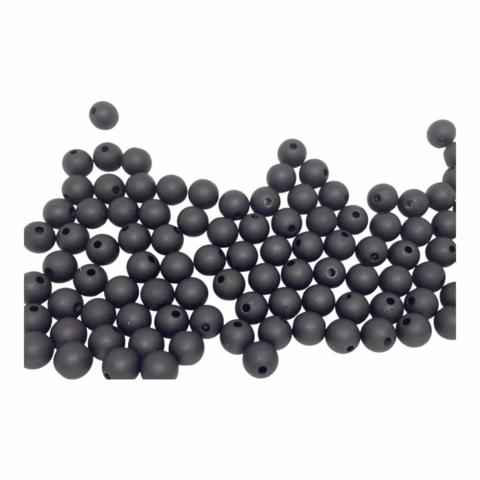 Akryylihelmi pyöreä 8 mm musta matta 30kpl/pss