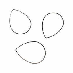 Korulinkki / linkkirengas pisara hopeoitu 31 x 23 mm (4 kpl)