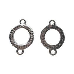 Korulinkki / linkkirengas pisara hopeoitu 26 x 17 mm (4 kpl)