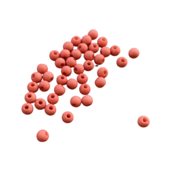 Akryylihelmi 4 mm lohenpunainen matta 3g (n.100 kpl)