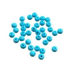 Akryylihelmi 4 mm turkoosi matta 3g (n.100 kpl)