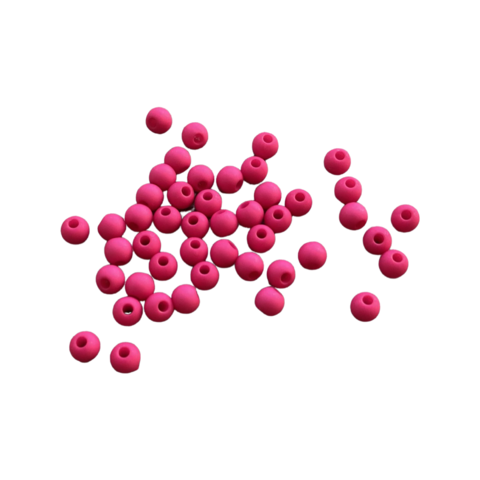 Akryylihelmi 4 mm fuksianpunainen matta 3g (n.100 kpl)