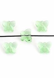 Fasettihiottu lasihelmi perhonen 10x8x6 mm vihreä (4kpl)