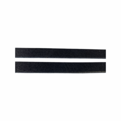 Nahkanauha musta litteä 10 mm leveä (1,25 metriä)