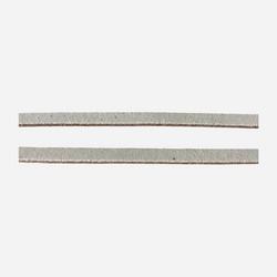 Nahkanauha luonnonvalkoinen litteä 5 mm leveä (1,25 metriä)