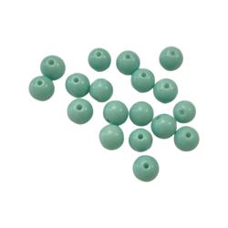 Lasihelmi  opaakki mintunvihreä 8 mm (20 kpl)