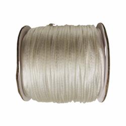 Satiininauha valkoinen  1,5 mm (2 metriä)