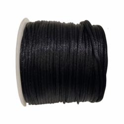 Satiininauha musta  1,5 mm (2 metriä)