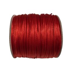 Satiininauha kirkkaanpunainen  1,5 mm (2 metriä)