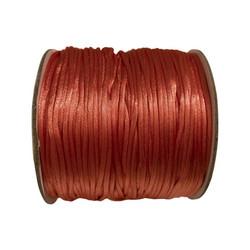 Satiininauha lohenpunainen  1,5 mm (2 metriä)