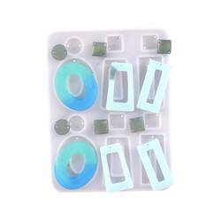 Silikonimuotti koruhartsille ja korubetonille 5 eri muotoa