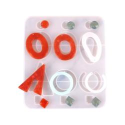 Silikonimuotti koruhartsille ja korubetonille 7 eri muotoa