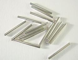 Metallihelmi hopeoitu putki sileä 15 mm (30 kpl/pss)