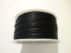 Puuvillanauha vahattu musta 1 mm (myyntierä 9 m kela)