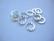Korulinkki / linkkirengas pyöreä hopeoitu 12 mm (12 kpl /pss)